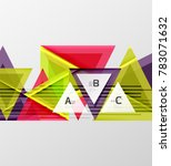 colorful abstract shapes... | Shutterstock .eps vector #783071632
