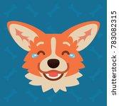 corgi dog emotional head....   Shutterstock .eps vector #783082315