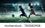 children play soccer. mixed...   Shutterstock . vector #783083908