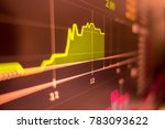 stock exchange market graph... | Shutterstock . vector #783093622