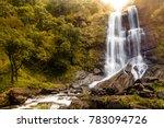 hebbe falls in chikmagalur ...   Shutterstock . vector #783094726