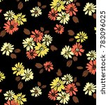 abstract fall daisy   Shutterstock . vector #783096025