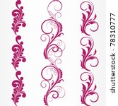 set of abstract floral patterns.... | Shutterstock .eps vector #78310777