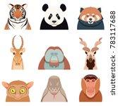 flat set of asian animals | Shutterstock . vector #783117688