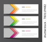 web banner set design. inspired ... | Shutterstock .eps vector #783119482