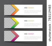 web banner set design. inspired ... | Shutterstock .eps vector #783119485