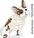 the french bulldog was... | Shutterstock .eps vector #783123958