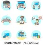computer programming ... | Shutterstock .eps vector #783128062