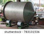 welded stainless steel tank on... | Shutterstock . vector #783131536