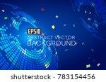 blue and blue swirls make up...   Shutterstock .eps vector #783154456