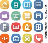 flat vector icon set   table... | Shutterstock .eps vector #783157345
