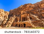 caved buildings of little petra ... | Shutterstock . vector #783160372