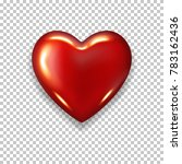red realistic heart  isolated. | Shutterstock .eps vector #783162436