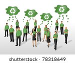 Eco Illustration Of A Group Of...