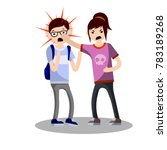 school violence. young people... | Shutterstock .eps vector #783189268