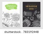 vietnamese food flyer design.... | Shutterstock .eps vector #783192448