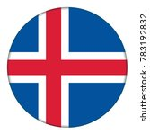 flag of iceland  icon.... | Shutterstock . vector #783192832