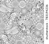 sketchy doodles decorative... | Shutterstock . vector #783194236