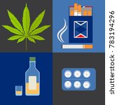 alcohol  drugs  cannabis and... | Shutterstock . vector #783194296
