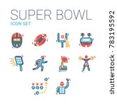 super bowl sport games... | Shutterstock .eps vector #783195592