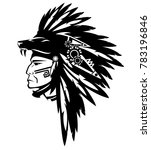 tribe chief warrior wearing... | Shutterstock .eps vector #783196846