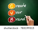 Small photo of CYB - Create Your Brand, acronym business concept on blackboard
