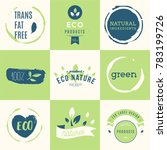 fresh  organic  gluten free ... | Shutterstock .eps vector #783199726