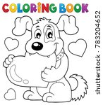 coloring book valentine dog... | Shutterstock .eps vector #783204652