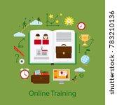 online education and webinar... | Shutterstock . vector #783210136