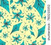 sketch fantasy flowers in... | Shutterstock .eps vector #783210352