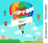 colorful hot air balloon with... | Shutterstock . vector #783210682