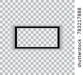 realistic black frame isolated... | Shutterstock .eps vector #783217888