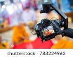steadicam with dslr camera for... | Shutterstock . vector #783224962