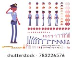 young black policewoman  female ... | Shutterstock .eps vector #783226576