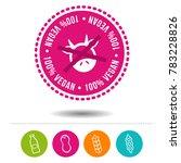 100  vegan siegel und icons  ... | Shutterstock .eps vector #783228826