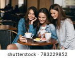 young female friends using... | Shutterstock . vector #783229852