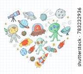 moon surface. kindergarten... | Shutterstock .eps vector #783232936
