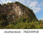 limestone mountain in tha  khek ... | Shutterstock . vector #783244918