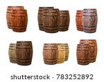 two and three barrels of oak... | Shutterstock . vector #783252892