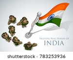 illustration of indian army... | Shutterstock .eps vector #783253936