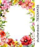summer flowers  wild grasses ... | Shutterstock . vector #783264436