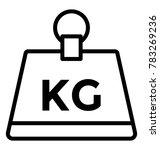 weight kettlebell line vector... | Shutterstock .eps vector #783269236
