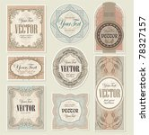 set vintage labels | Shutterstock .eps vector #78327157