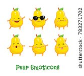 pear smiles. cute cartoon... | Shutterstock .eps vector #783271702