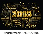 happy new year 2018 greeting... | Shutterstock .eps vector #783272308