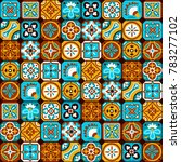 bright colorful arabic mosaic... | Shutterstock .eps vector #783277102