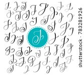 set of hand drawn  calligraphy... | Shutterstock . vector #783281926