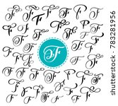 set of hand drawn  calligraphy... | Shutterstock . vector #783281956