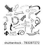 hand drawn sketch doodle arrows ... | Shutterstock . vector #783287272