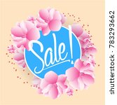 sale  beautiful greeting card... | Shutterstock .eps vector #783293662